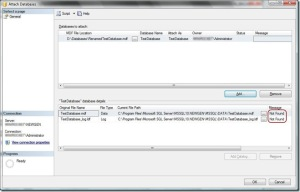 Attach Database Dialog