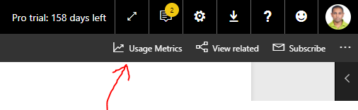Power BI Usage Metrics Location